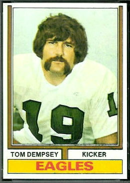 Tom Dempsey 1974 Topps football card