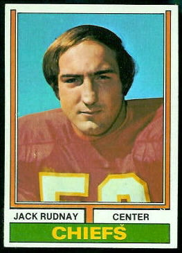 Jack Rudnay 1974 Topps football card