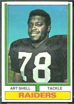 art shell 1974 topps 272 vintage football card gallery