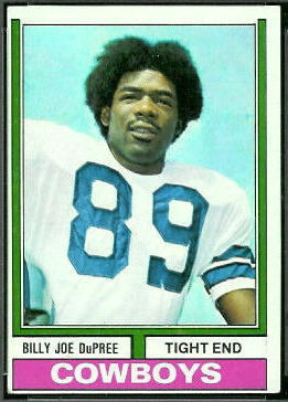 Billy Joe DuPree 1974 Topps football card