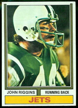 John Riggins 1974 Topps football card
