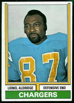 Lionel Aldridge 1974 Topps football card