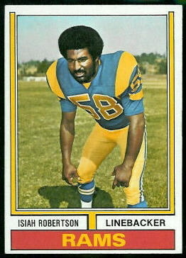 Isiah Robertson 1974 Topps football card