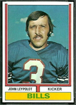 John Leypoldt 1974 Topps football card