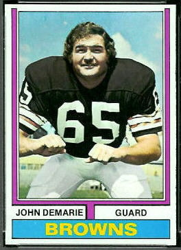 John Demarie 1974 Topps football card