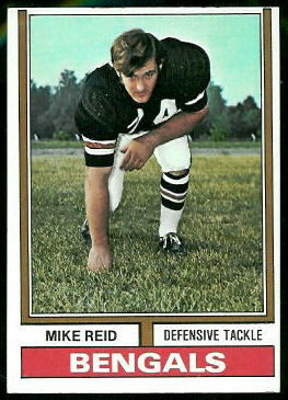 Mike Reid 1974 Topps football card