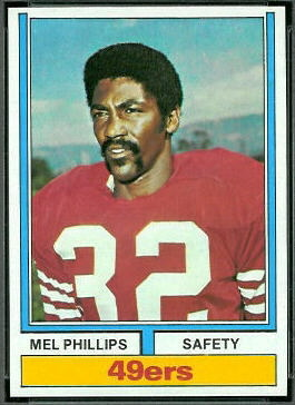 Mel Phillips 1974 Topps football card