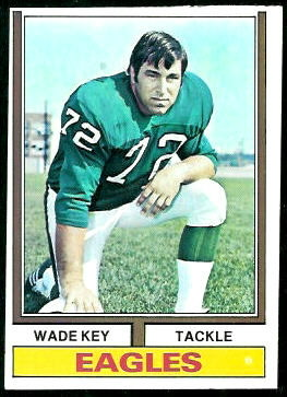 Wade Key 1974 Topps football card