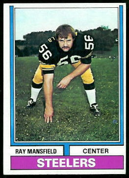 Ray Mansfield 1974 Topps football card