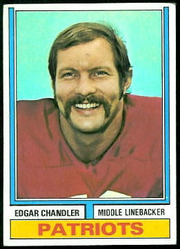 Edgar Chandler 1974 Topps football card
