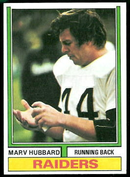 Marv Hubbard 1974 Topps football card