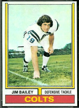 Jim Bailey 1974 Topps football card