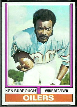 Ken Burrough 1974 Topps football card