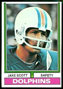 Jake Scott 1974 Topps football card
