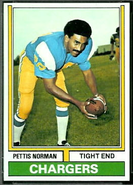 Pettis Norman 1974 Topps football card