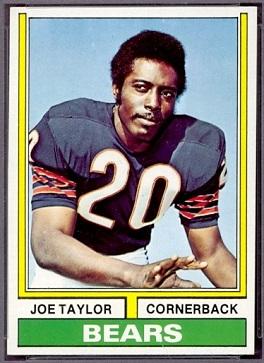 Joe Taylor 1974 Topps football card