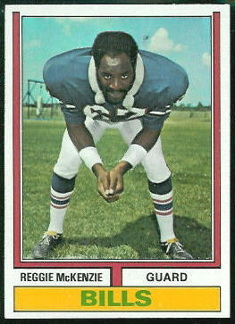 Reggie McKenzie 1974 Topps football card