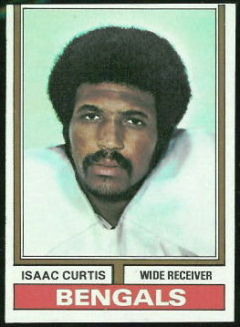 Isaac Curtis 1974 Topps football card