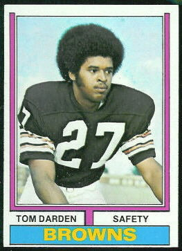 Thom Darden 1974 Topps football card