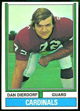 Dan Dierdorf 1974 Topps football card