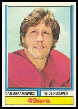 Dan Abramowicz 1974 Topps football card