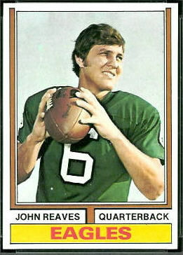 John Reaves 1974 Topps football card