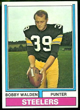Bobby Walden 1974 Topps football card