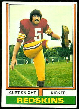 Curt Knight 1974 Topps football card