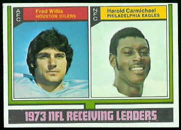 1973 Receiving Leaders 1974 Topps football card
