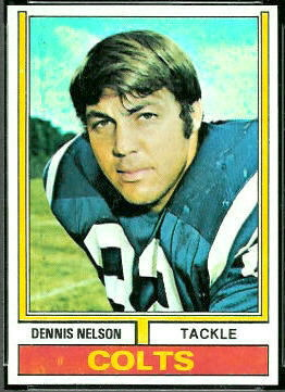 Dennis Nelson 1974 Topps football card