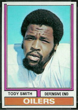 Tody Smith 1974 Topps football card