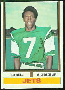 Ed Bell 1974 Topps football card