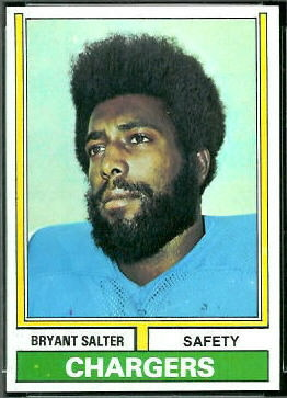 Bryant Salter 1974 Topps football card
