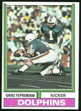 Garo Yepremian 1974 Topps football card