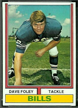 Dave Foley 1974 Topps football card
