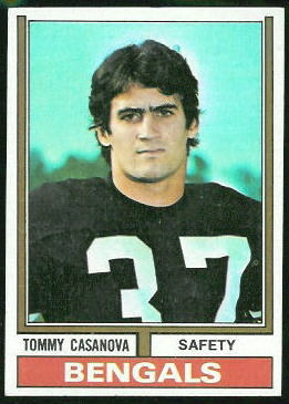 Tommy Casanova 1974 Topps football card