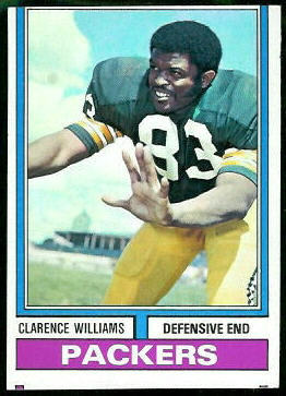 Clarence Williams 1974 Topps football card