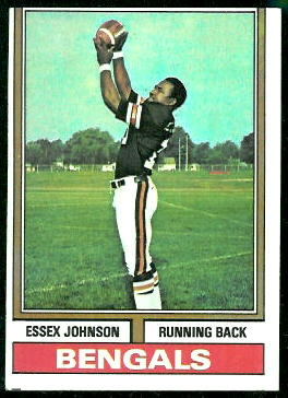 Essex Johnson 1974 Topps football card