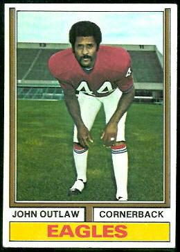 John Outlaw 1974 Topps football card