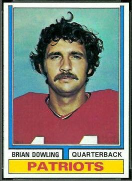 Brian Dowling 1974 Topps football card