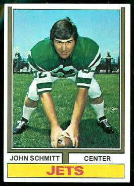 John Schmitt 1974 Topps football card