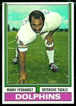 Manny Fernandez 1974 Topps football card