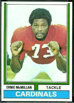 Ernie McMillan 1974 Topps football card