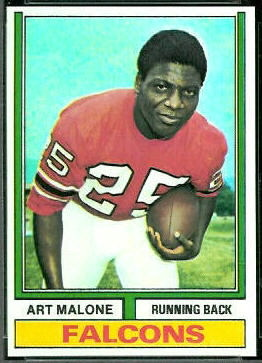 Art Malone 1974 Topps football card