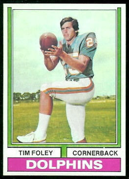 Tim Foley 1974 Topps football card