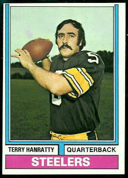 Terry Hanratty 1974 Topps football card