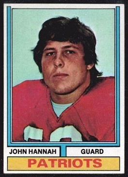 John Hannah 1974 Topps football card