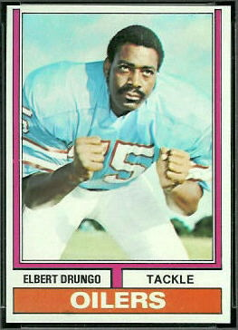 Elbert Drungo 1974 Topps football card