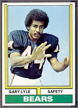 Garry Lyle 1974 Topps football card