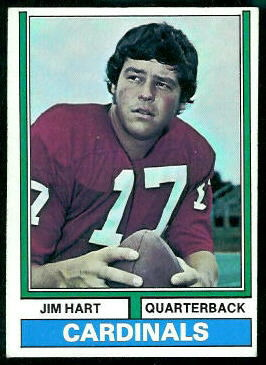 Jim Hart 1974 Topps football card